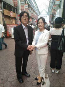 維新の会 高木かおり議員と認知症予防サポート協会代表理事鳴川